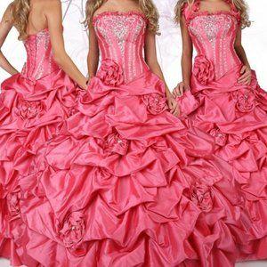 DaVinci Taffeta Quinceanera Prom Dress NWT 8